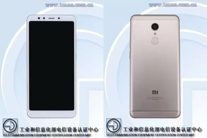 Xiaomi Redmi 5 certificado na TENAA não deixa nada à imaginação 1