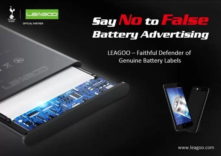 LEAGOO é uma acérrima defensora da utilização de baterias genuinas e de qualidade 3