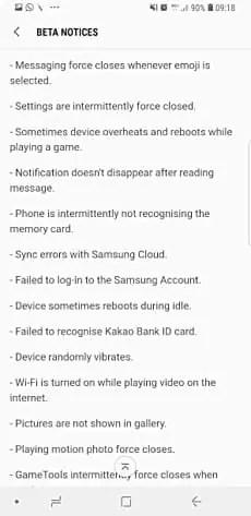 Oreo Beta 4 para Samsung Galaxy S8 / S8 + distribuição em curso 3