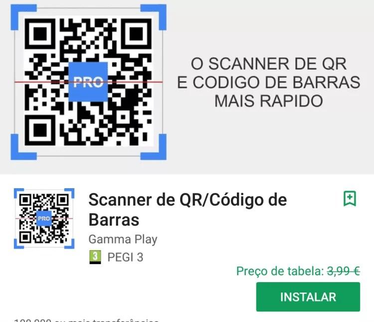 QR & Barcode Scanner PRO Grátis na Play Store (Download aqui) 1
