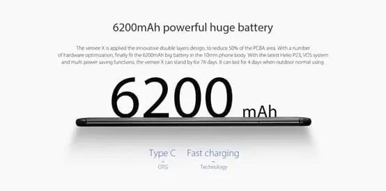 Vernee X é o primeiro smartphone com Helio P23, ecrã 18: 9, bateria de 6200mAh e Android Oreo image
