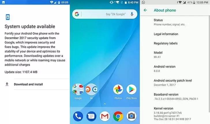 Xiaomi Mi A1 finalmente recebe Android 8.0 Oreo 1