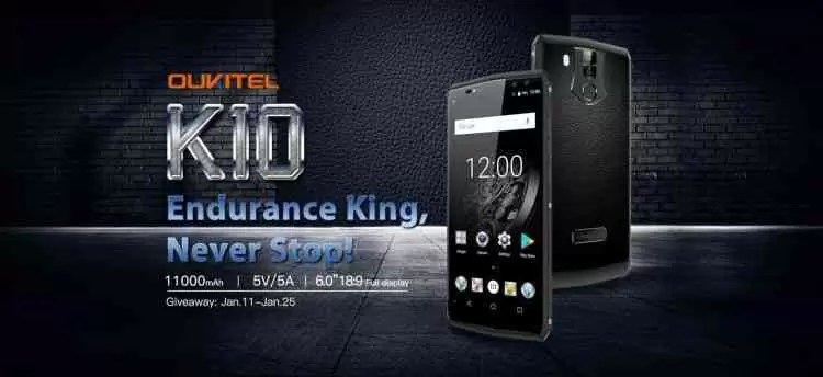 OUKITEL K10 o primeiro telemóvel do mundo com 11000mAh está com uma oferta, especificações completas confirmadas 1
