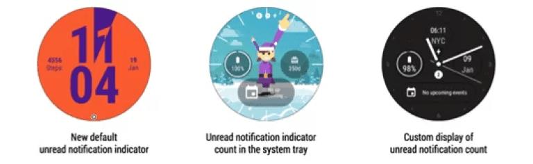 Android Wear recebe um novo indicador de notificação não lida 2