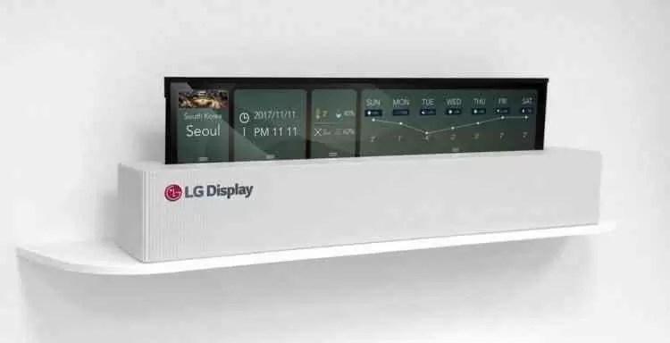 LG apresenta TV OLED de 65 polegadas que se enrola como um pedaço de papel 1