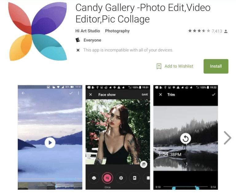 O aplicativo de galeria padrão em alguns telefones Alcatel foi substituído por um aplicativo de spam. 1