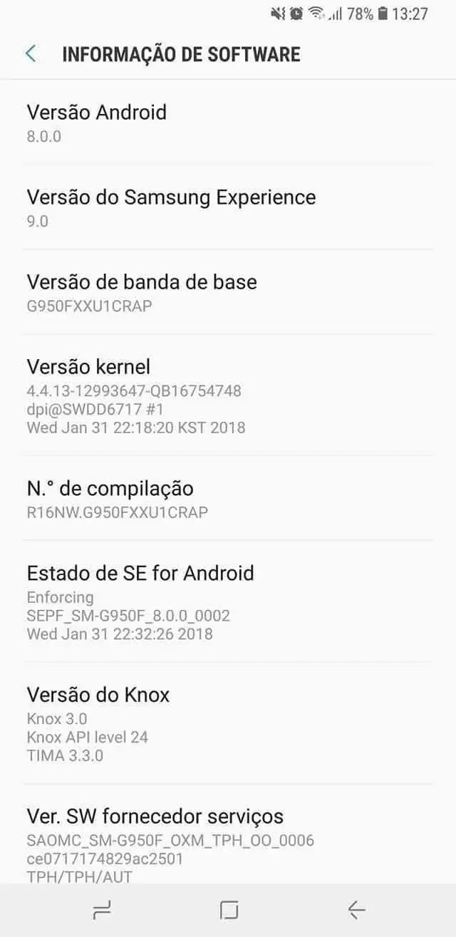 Android Oreo 8.0 aterra nos Galaxy S8 em Portugal 1