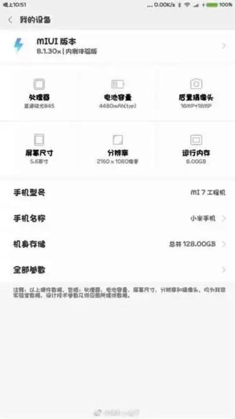 Especificações do Xiaomi Mi 7 aparecem na rede: 8GB de RAM, ecrã de 5,6 polegadas e mais 1