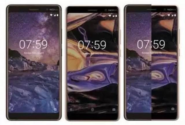 Renderização do Nokia 7 Plus mostra a opção de cor preta 1