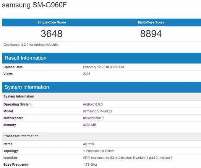 Samsung Galaxy S9 com o Exynos 9810 aparece em benchmark, humilha Snapdragon 845 2