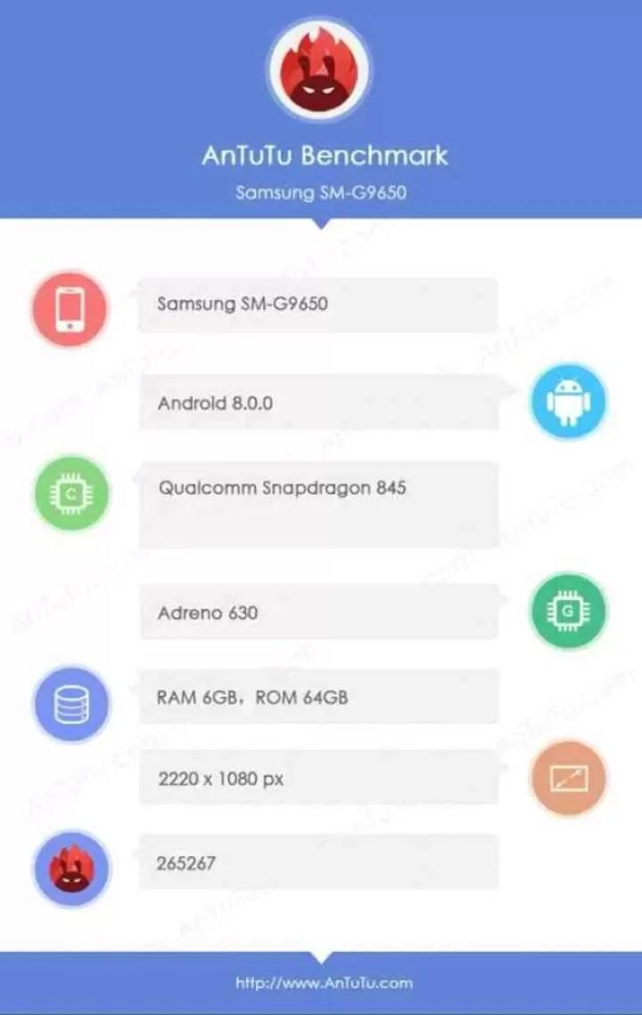 Galaxy S9 + com Snapdragon 845 e 6G RAM testado 1