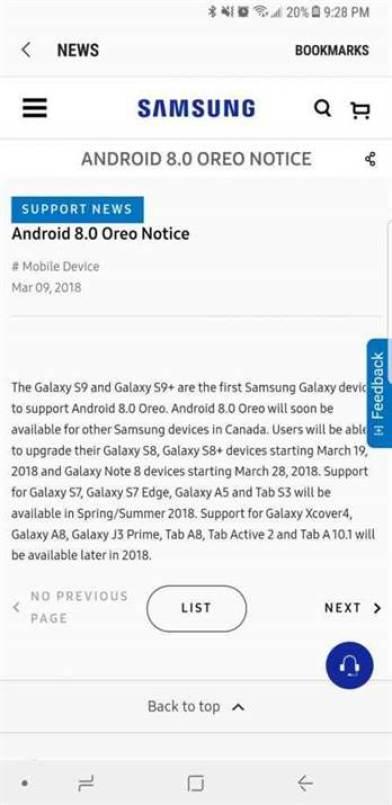 A vergonhosa politica de actualizações da Samsung 1