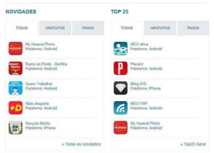 My Huawei Photo no TOP 5 de apps em Portugal 2