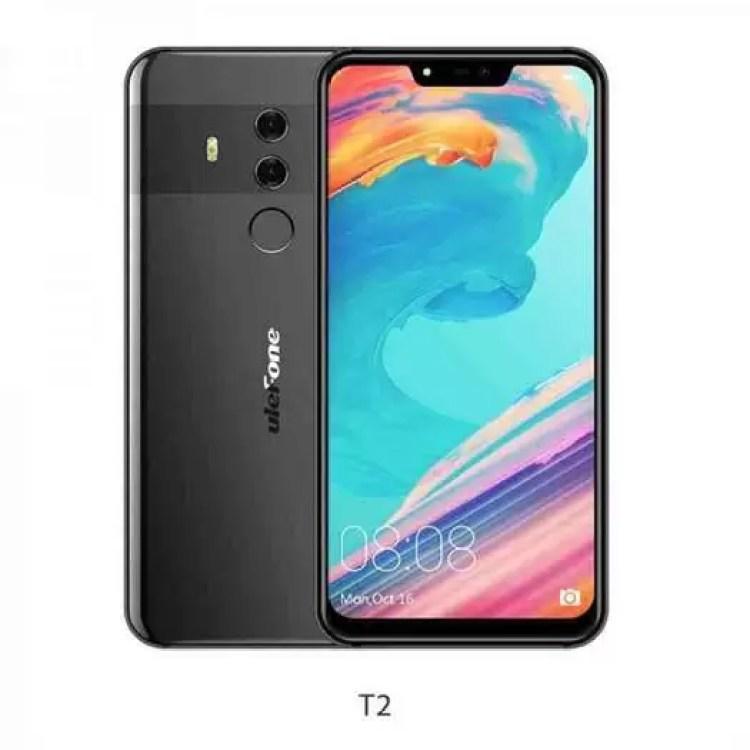 Ulefone revelou vários dispositivos no MWC2018 incluindo o T2 Pro com um sensor de impressão digital no ecrã 2