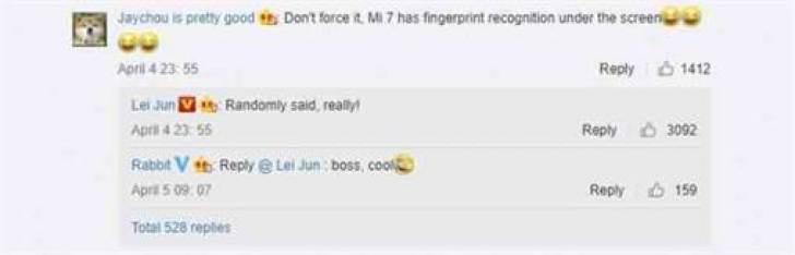 Confirmado: Xiaomi Mi 7 chegará com sensor de impressão digital no ecrã 1