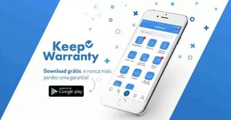 KEEP WARRANTY por: IconTrends disponível no Google Play Store 1