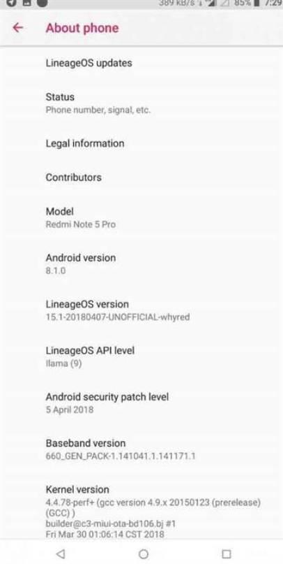 LineageOS 15.1 chega ao Xiaomi Redmi Note 5 Pro image