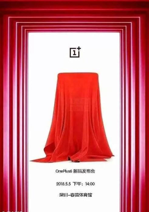 OnePlus 6 deverá ser revelado a 5 de maio 1