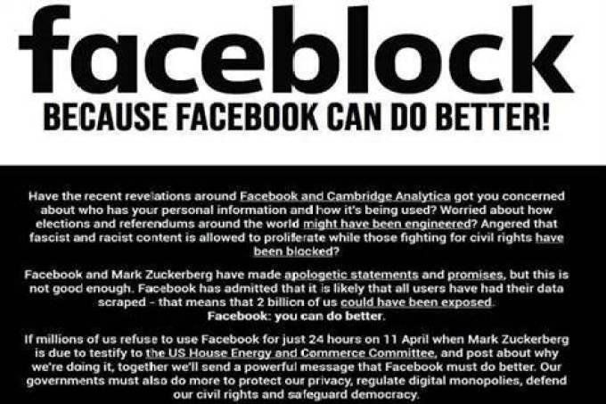 Operação Faceblock prepara Boicote de 24 horas ao Facebook 1