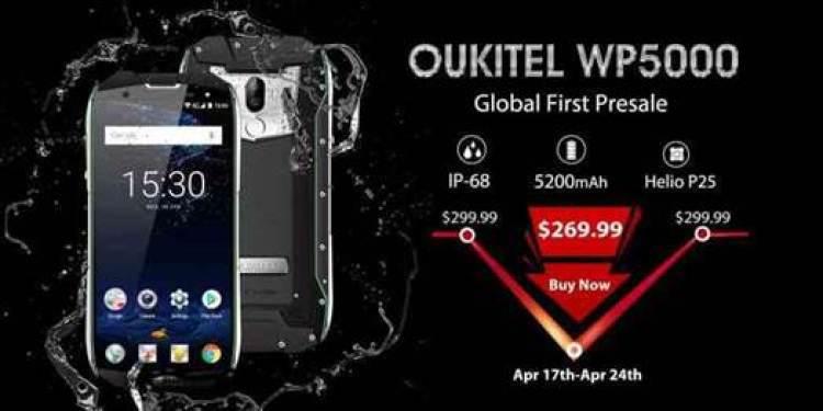 OUKITEL WP5000 com IP68 tem a sua pre-venda a partir de $269.99 na Banggood 1