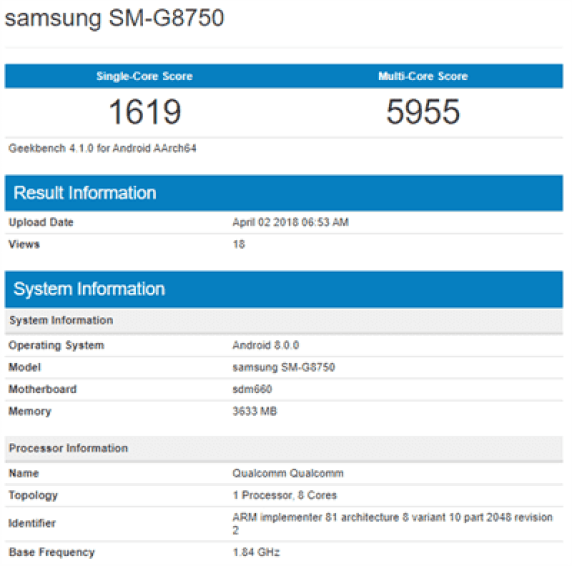 Samsung Galaxy S9 mini avistado com Snapdragon 660 e 4GB de RAM 1