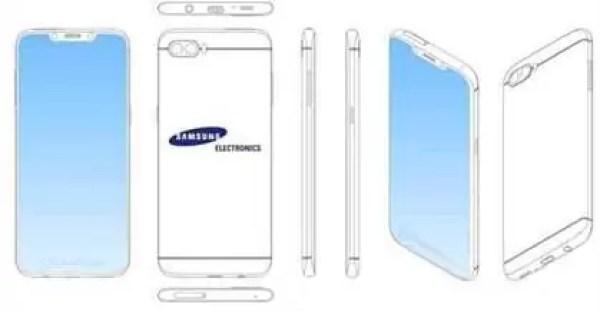 Samsung regista patente na China para um ecrã com Entalhe (Notch) 2