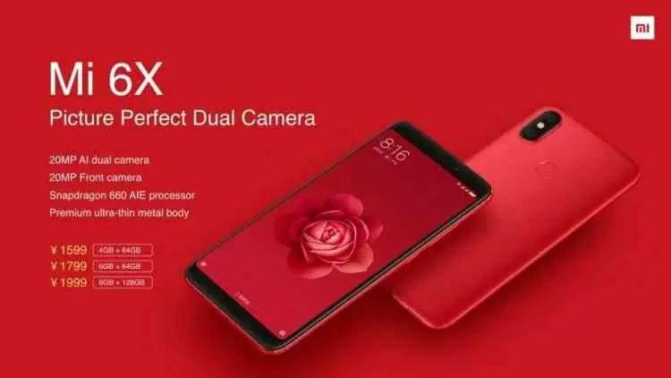 Xiaomi Mi 6X estreia-se com câmeras duplas AI 1