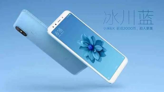 Xiaomi Mi 6X vai chegar em cinco opções de cores 4