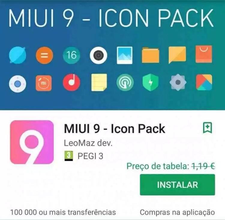 MIUI 9 - Icon Pack da LeoMaz Deb era 1.19€ e agora está grátis na Play Store 1