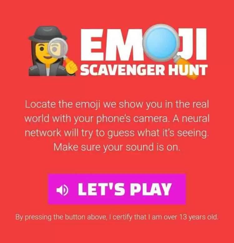 Google lança o jogo Emoji Scavenger Hunt que podem jogar no browser do vosso Android 1
