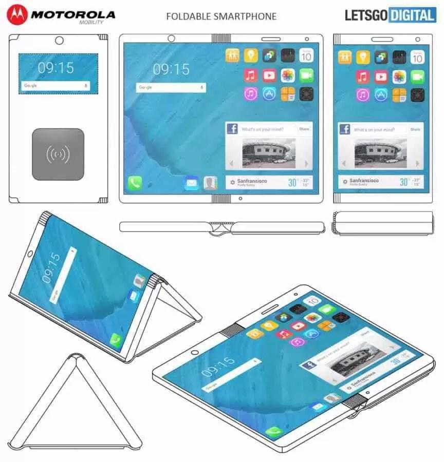Motorola regista patente de um smartphone dobrável 1
