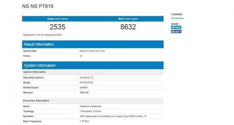 Oneplus 6 com 6Gb RAM obtém impressionante pontuação no Geekbench 2