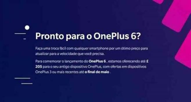 Oneplus lança programa de trade-in para o OnePlus 6 1