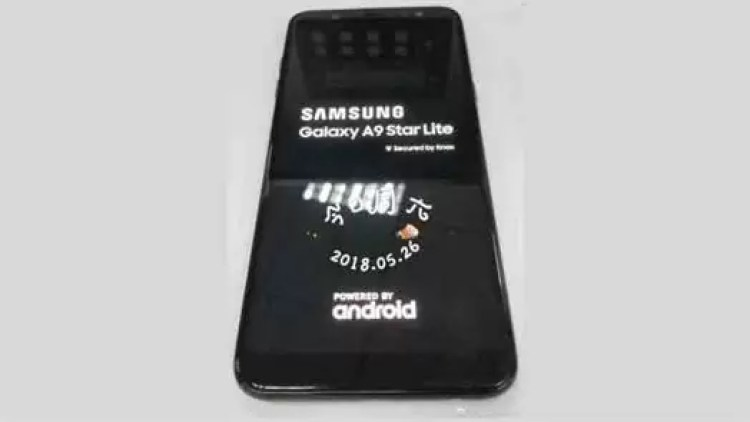 Samsung Galaxy A9 Star Lite aparece em imagem real 1