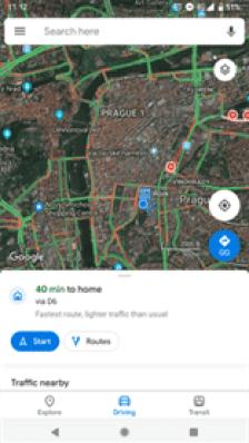 Google Maps com novo material design em muitos dispositivos Android 2