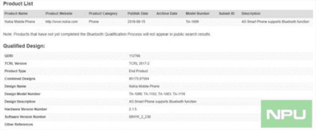 Possível Nokia 5.1 Plus ou X5 ganha certificação Bluetooth 2