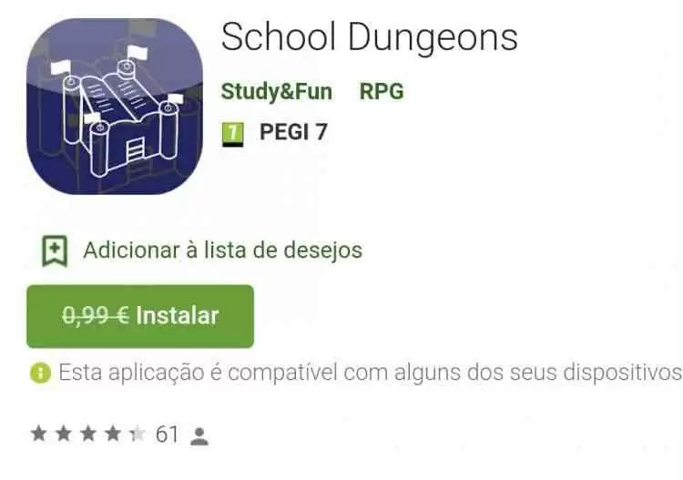 School Dungeons GRÁTIS na Play Store 1