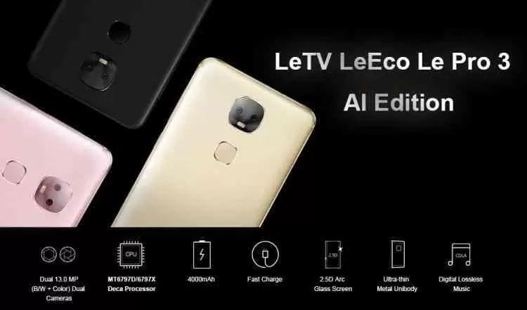 Tudo o que precisas saber sobre o LeEco Le Pro 3 AI Edition 1