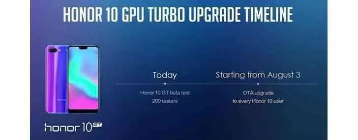 Honor 10 recebe GPU Turbo e Estabilização Automática de Imagem em agosto 2