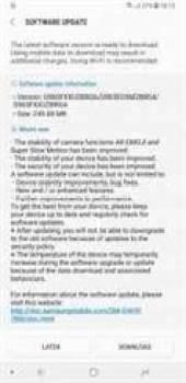 Samsung Galaxy S9 + (Exynos) recebendo a atualização