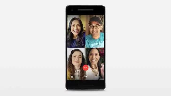 WhatsApp atualizado para suportar chat em vídeo com quatro pessoas 1