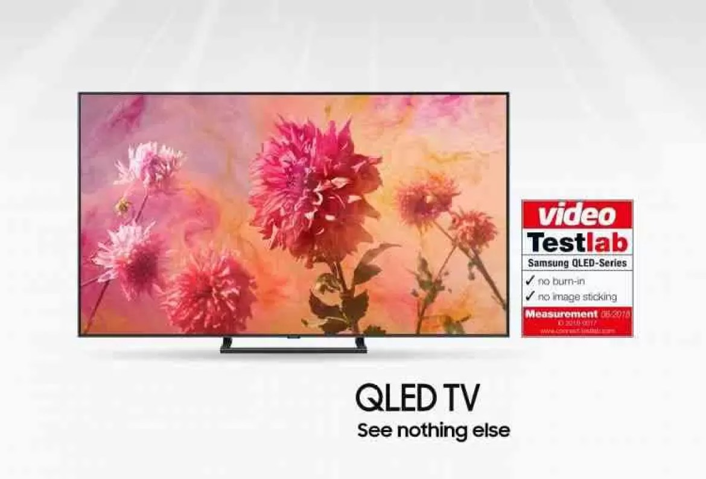 QLED TV da Samsung sem efeito Burn-in 1
