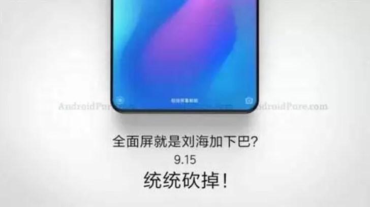 Xiaomi Mi Mix 3 pode chegar a 15 de setembro sem margem inferior 1