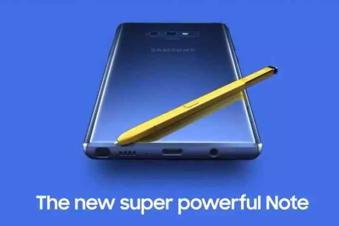 Galaxy Note 9 vai ter câmara com AI e a Samsung pode vender a S Pen separadamente 1
