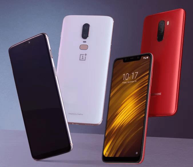 Batalha de Especificações: Xiaomi's Pocofone F1 vs OnePlus 6 1