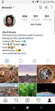O Instagram está a testar uma nova barra lateral do perfil para publicações e configurações 2