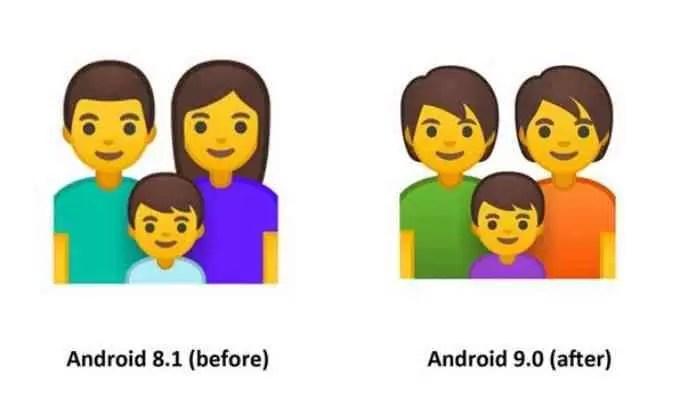 Android 9.0 Pie vem com 157 novos designs de emojis 3