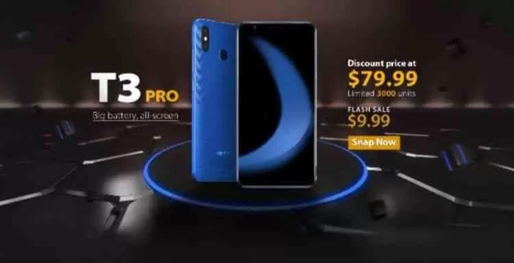 Vernee T3 Pro com 4080mAh, ecrã inteiro e Android 8.1 começa a pré-venda por US $ 79,99 6