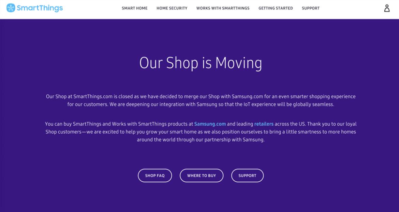 Samsung acaba com loja online dedicada a SmartThings 1