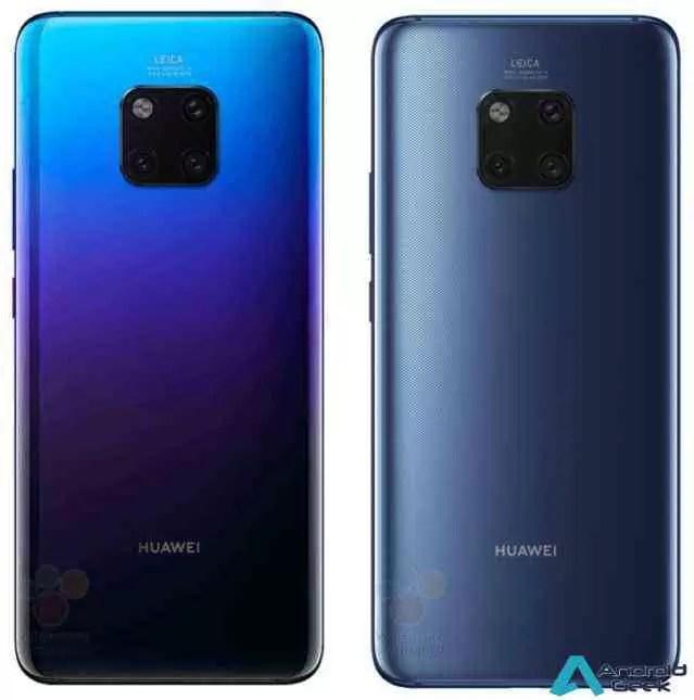 Primeiras imagens em fuga de informação do Huawei Mate 20 Pro 2